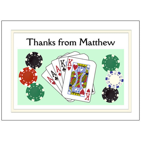 Poker or Texas Hold Em Party Thank You Note Cards