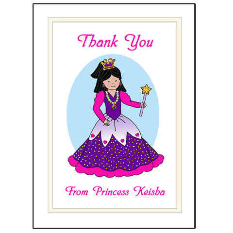 Princess Thank You Note Cards