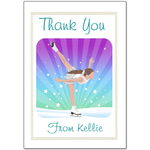 Ice Skating Dreams Thank You Note Cards