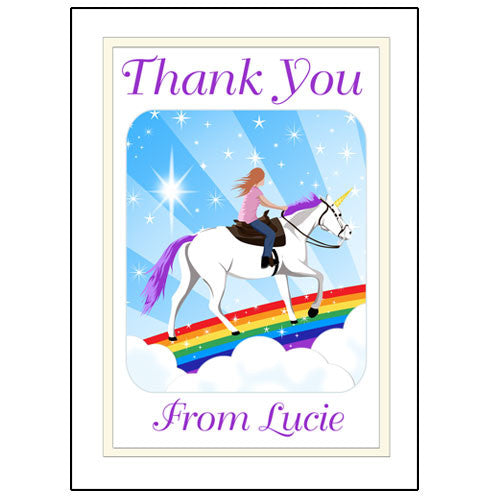 Unicorn Dreams Thank You Note Cards