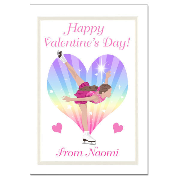Ice Skating Dreams Valentine's Cards