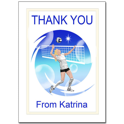 Volleyball Dreams Thank You Note Cards