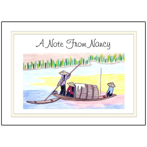 Personalized Note Cards - Vietnamese Scenes