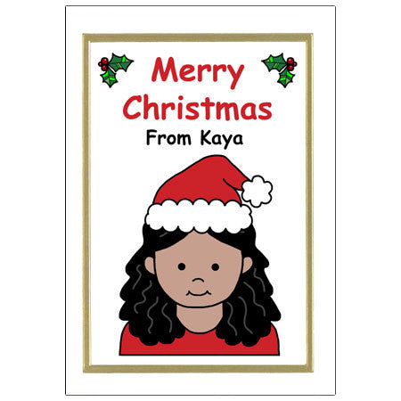 Kids Personalized Christmas Cards - Girl