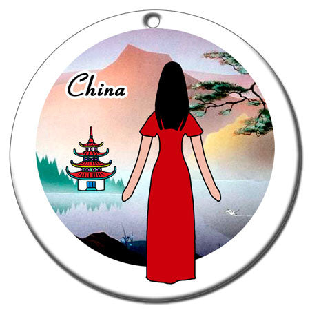 Personalized Christmas Ornament - Chinese Women