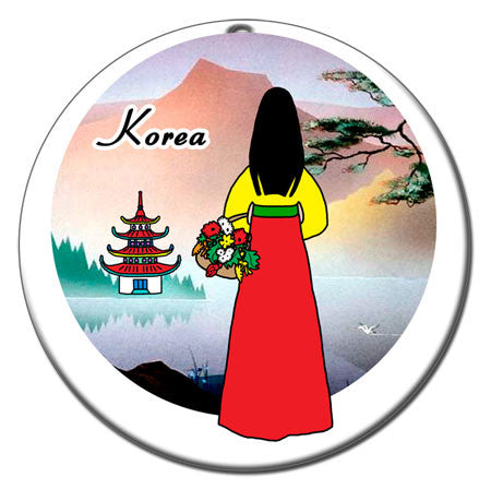 Korean Woman Christmas Ornament