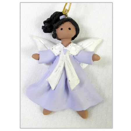 Biracial Angel Christmas Ornament