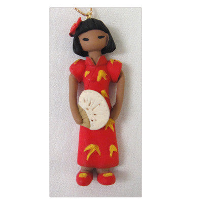 Asian Girl Christmas Ornament - Ming Yue from China