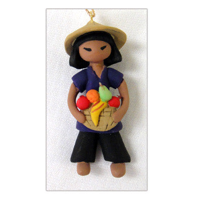 Asian Girl Christmas Ornament - Tam from Vietnam