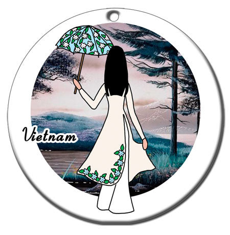 Personalized Christmas Ornament - Vietnamese Women