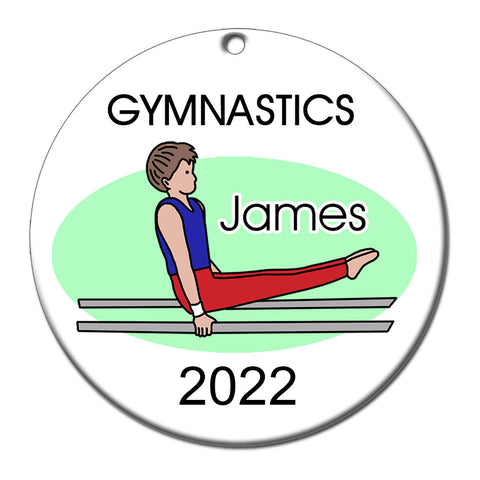Gymnastics Christmas Ornament - Boy on Bars