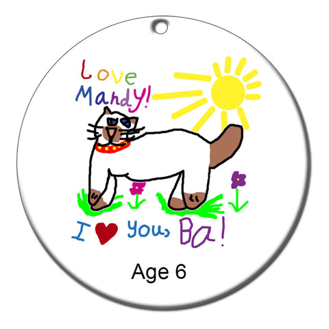 Christmas Ornament Featuring Your Child's Art
