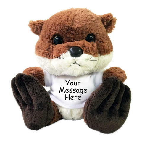 Personalized Stuffed Otter