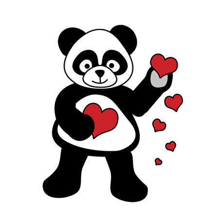 Love Panda Hearts Personalized Valentines Cards For Kids Mandys Moon Personalized Gifts