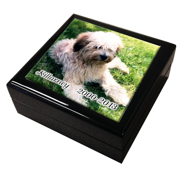 Pet Memorial Tile Keepsake Box, Personalized