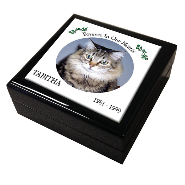 Pet Memorial Tile Keepsake Box, Personalized Design