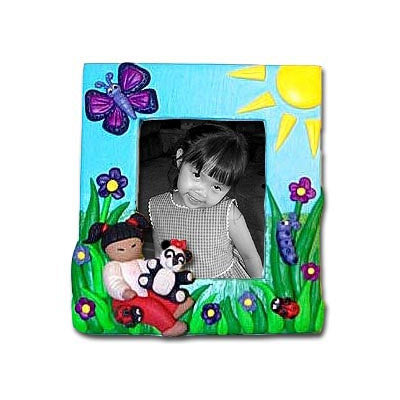 Asian Girl with Panda Photo Frame