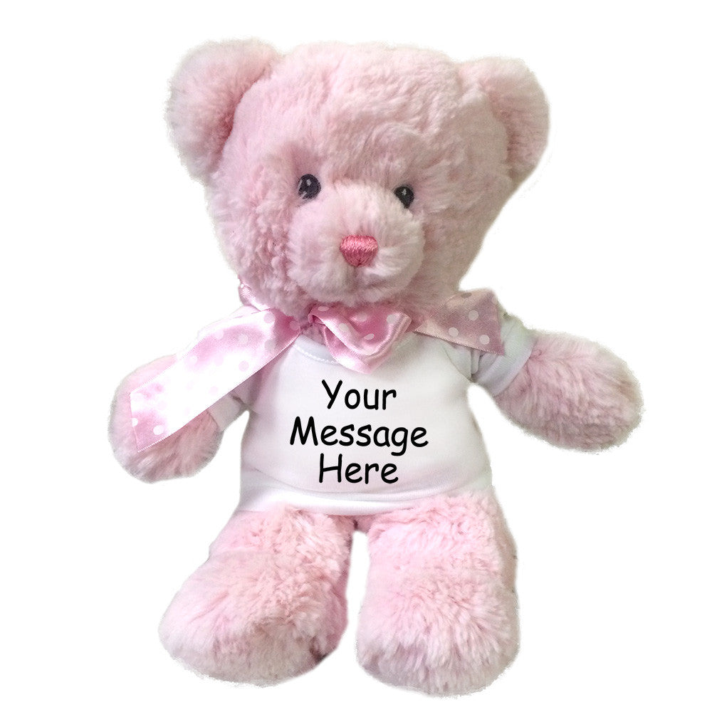 personalized teddy bear pink mandys moon personalized gifts