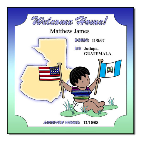 Baby Boy Adoption Plaque - Guatemala
