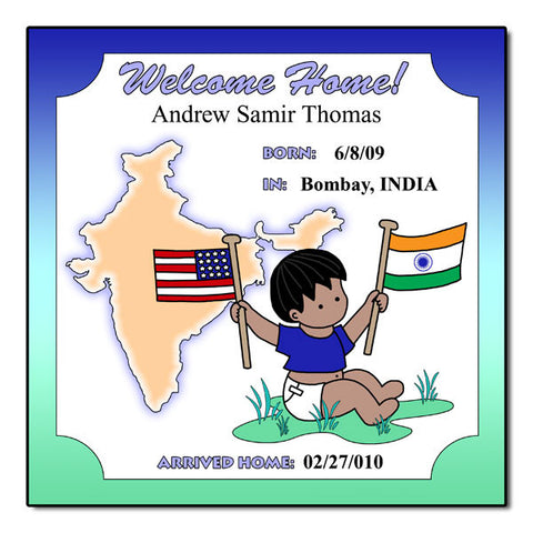Baby Boy Adoption Plaque - India