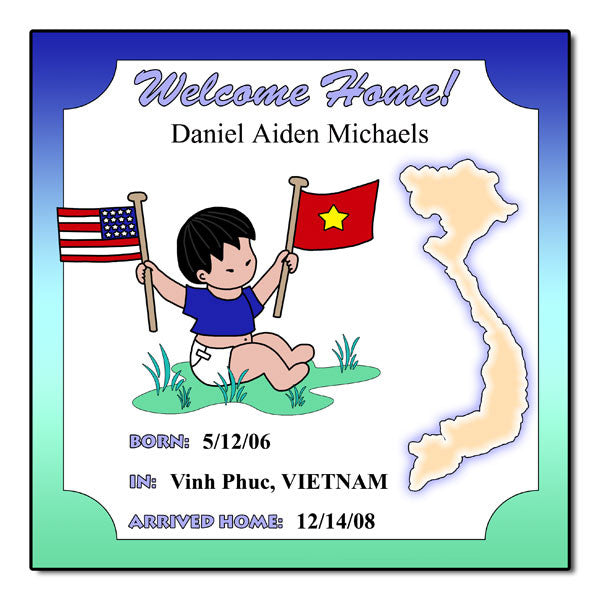 Baby Boy Adoption Plaque - Vietnam