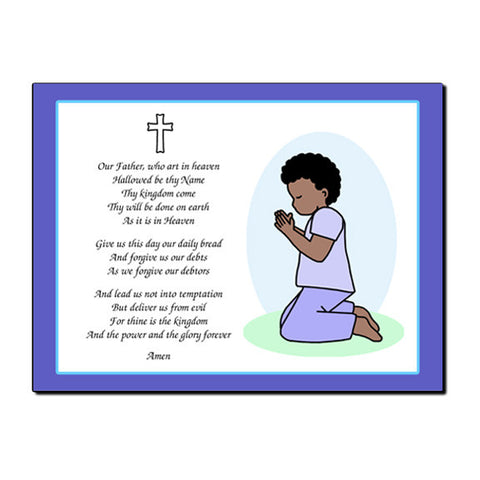 Praying Boy Plaque