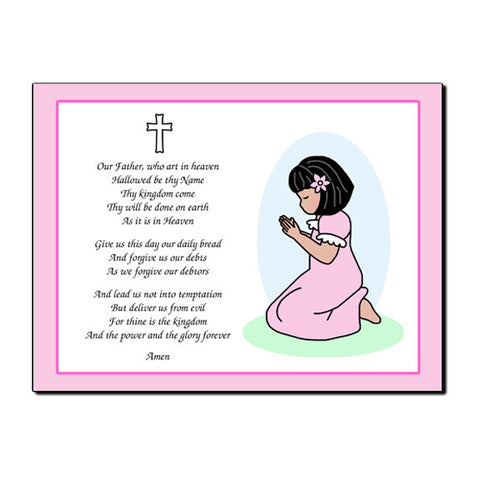 Praying Girl Plaque