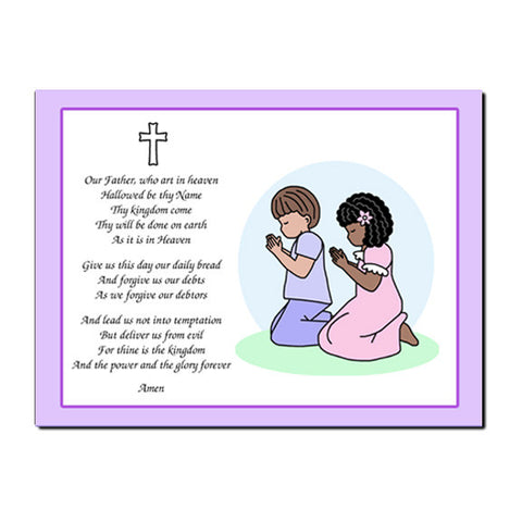Praying Children Plaque