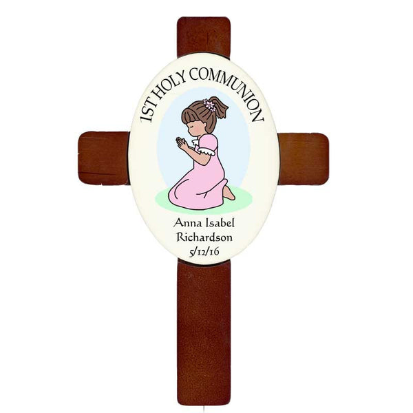 Personalized Praying Girl Cross