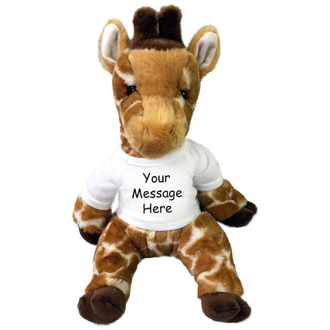"Personalized Stuffed Giraffe - 14"" Pudgie Giraffe"