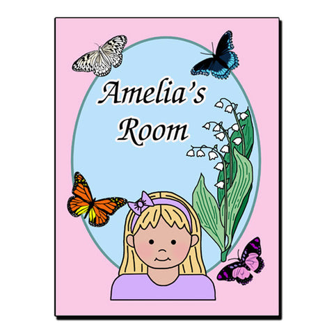 Butterfly Room Sign