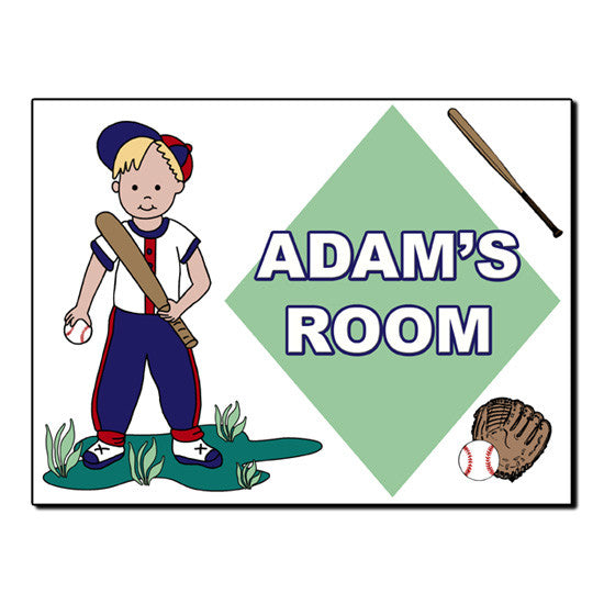 Baseball Boy Room Sign