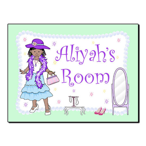Dress Up Girl Room Sign