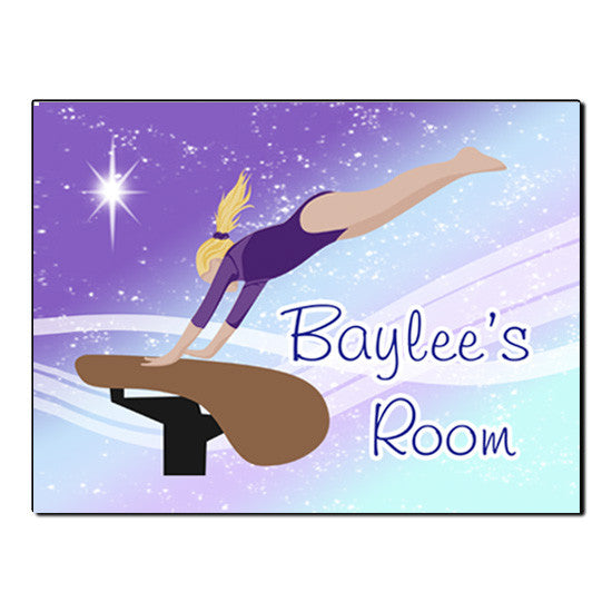 Gymnastics Dreams Room Sign - Vault Design
