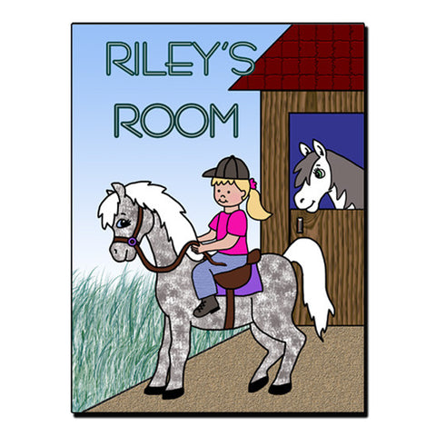 Horse Girl Room Sign