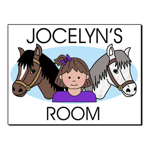 Horse Kid Room Sign - Girl