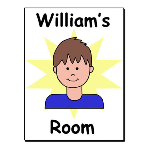 Cartoon Boy Room Sign
