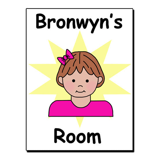 Cartoon Girl Room Sign