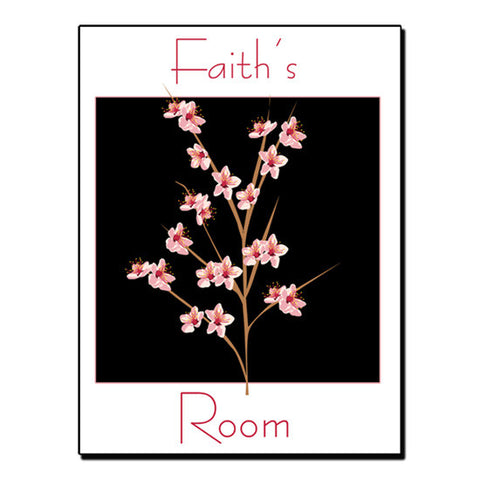 Peach Blossom Room Sign