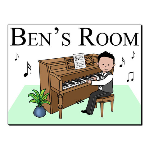 Piano Recital Boy Room Sign