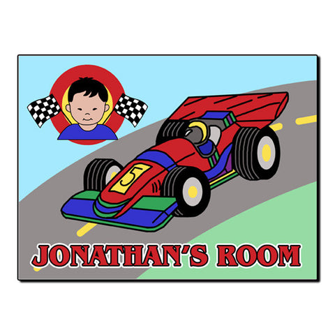 Race Car Room Sign