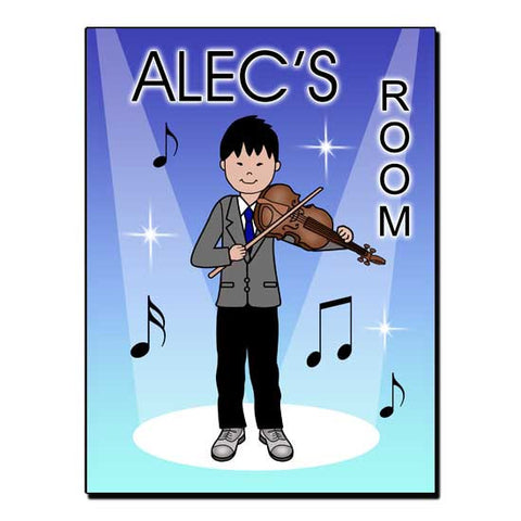 Violin Recital Boy Room Sign