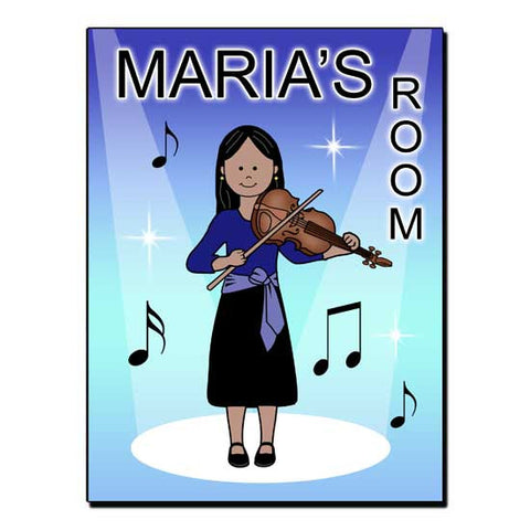 Violin Recital Girl Room Sign