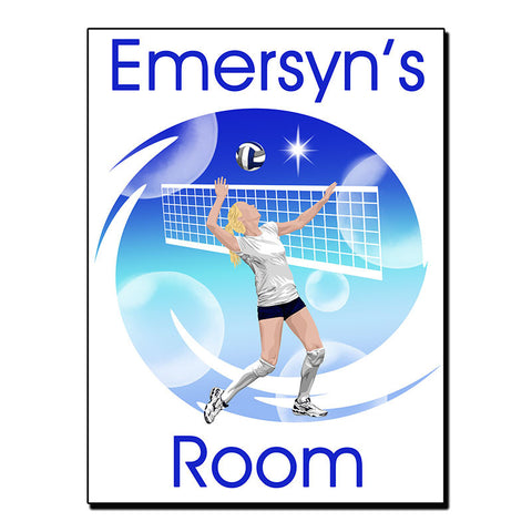 Volleyball Dreams Room Sign
