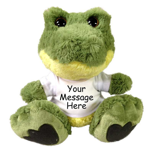 "Personalized Stuffed Alligator or Crocodile - 10"" Taddle Toes"