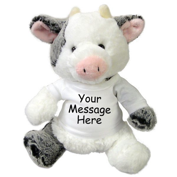 Personalized Stuffed Cow - 11 inch Aurora Plush Clementine Cow