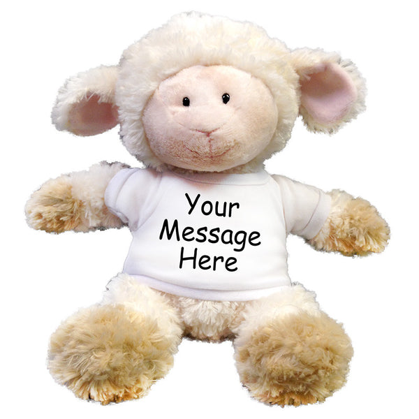 Personalized Stuffed Lamb - 12 inch Aurora Tubby Wubby Sheep