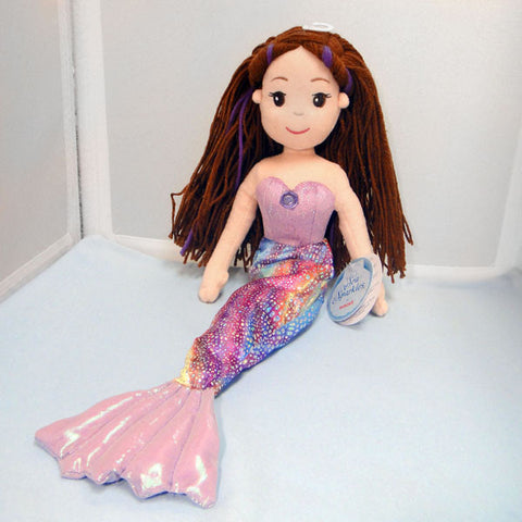 "Mermaid Doll - ""Merissa"" Brown Hair, 17"" by Aurora Plush"
