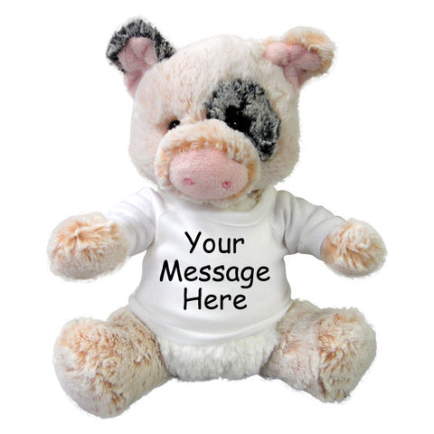 Personalized Stuffed Pig - 11 inch Aurora Plush Percy Pig