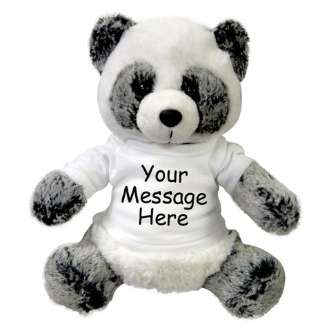 Personalized Stuffed Panda Bear - 11 inch Aurora Plush Ping Panda